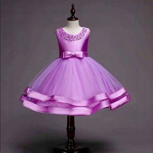 Other - New! Purple Satin Tulle Tutu Party Dress - 7/8